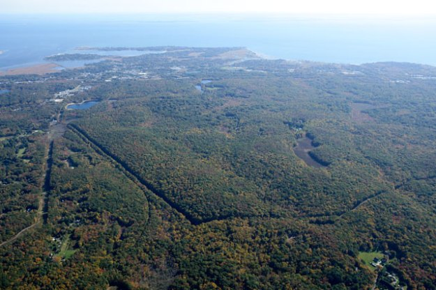 aerial image of 1000 acre forest